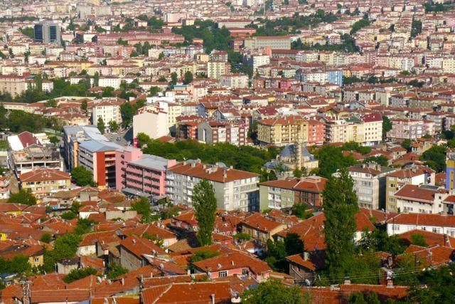Uitzicht over Ankara