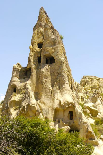 de zachte rots van Cappadocië