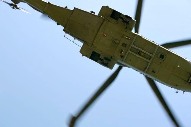 Er waren heel veel helicopters