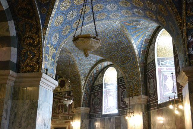Mozaiek in de Dom van Aken