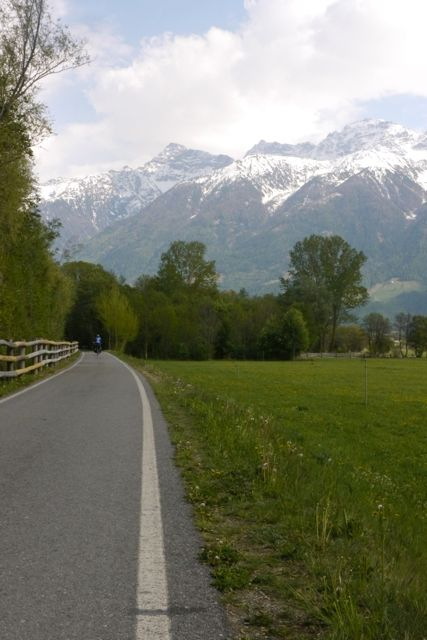 Aan de Italiaanse kant van de Alpen