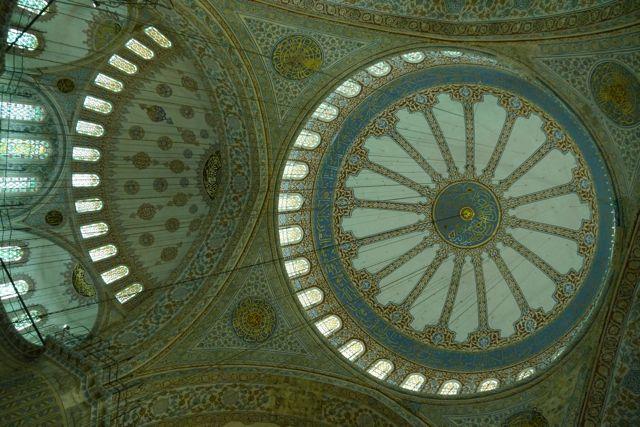 koepel in de blauwe moskee