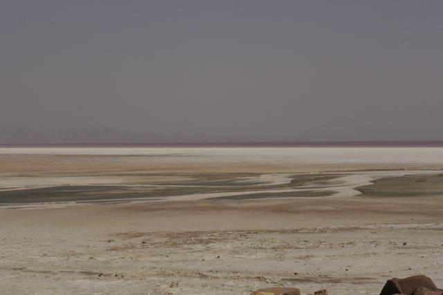 Het zoutmeer bij Urmia is heel bijzonder.
