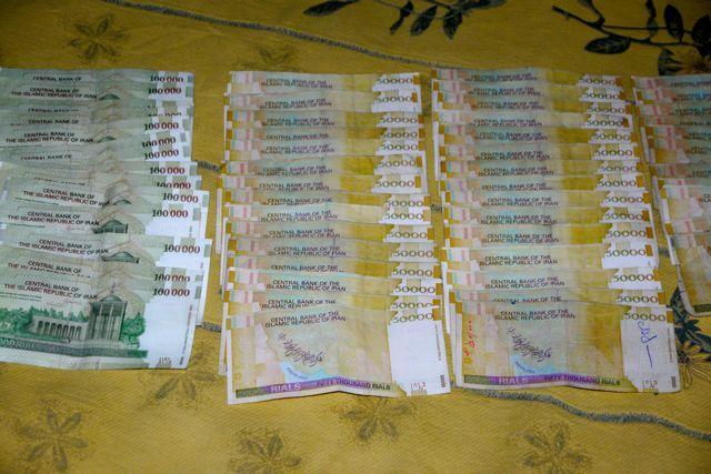 Een keer geld wisselen en we zijn miljonair.