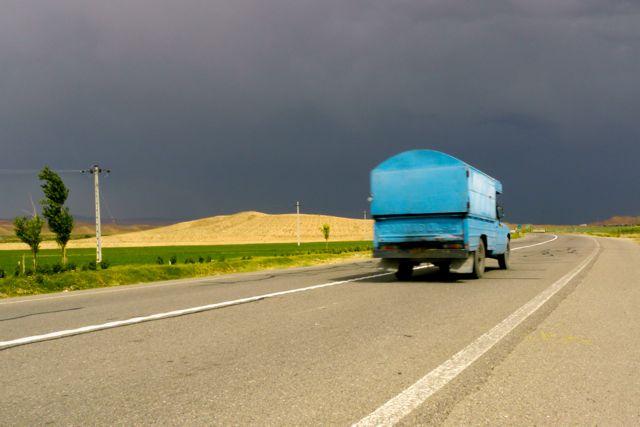 Elke middag (dreigend) onweer in het westen van Iran.