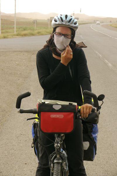 Voorzorgsmaatregelen omdat we een zandstorm zien naderen.