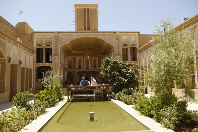 In het munten museum in Yazd.