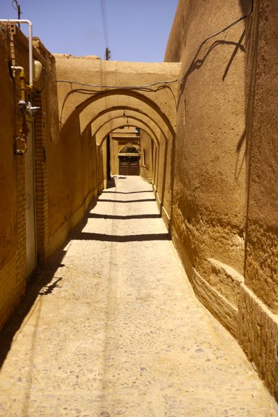 straatje in Yazd.