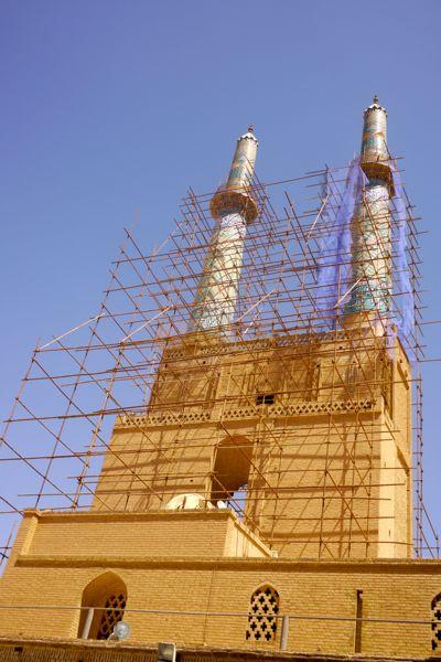 moskee in de steigers