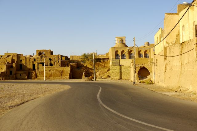 straatbeeld in Yazd