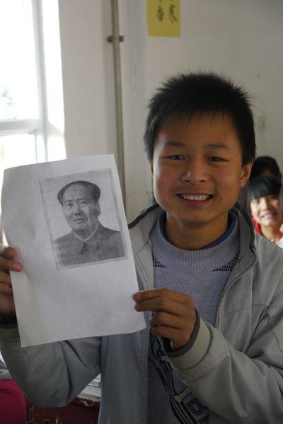 Vraag nummer een van de leerlingen aan ons: Weten jullie wie dit is?