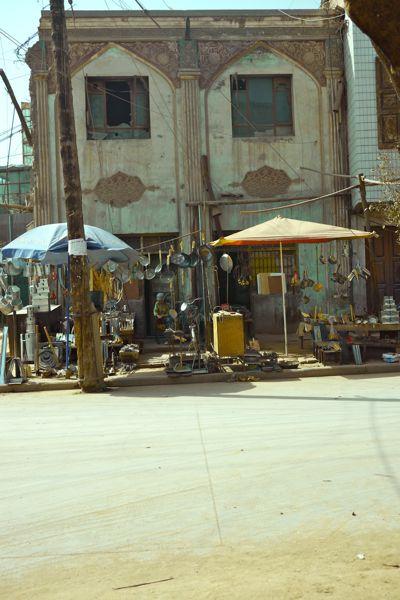 Straatbeeld van Kashgar