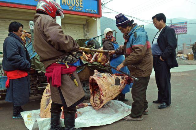 Geen idee wat de kiloprijs van yakvlees is
