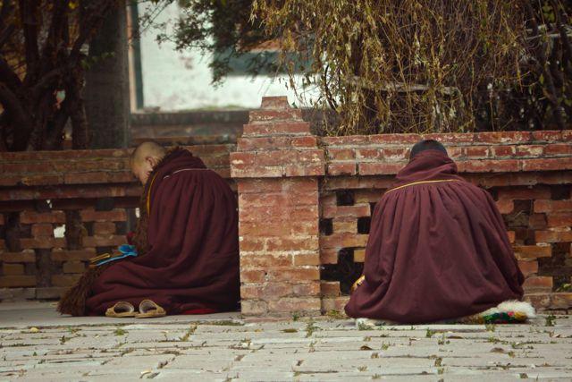 Monniken in gebed