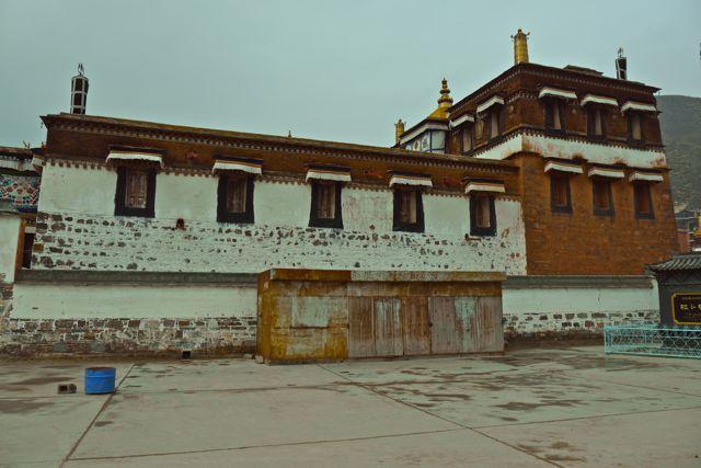 Een van de gebouwen op het kloostercomplex