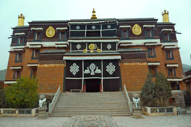 Het Labrang klooster in Xiahe een stad in een Tibetaanse autonome regio in de provincie Gangsu