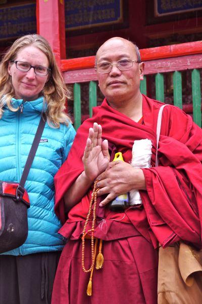 Deze monnik was bezig met een pelgrimage van Beijing naar India waar de Dalai lama in ballingschap leeft