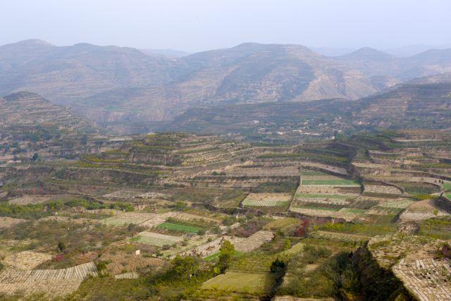 Het hele land is tot terrassen gemaakt door de eeuwen heen.