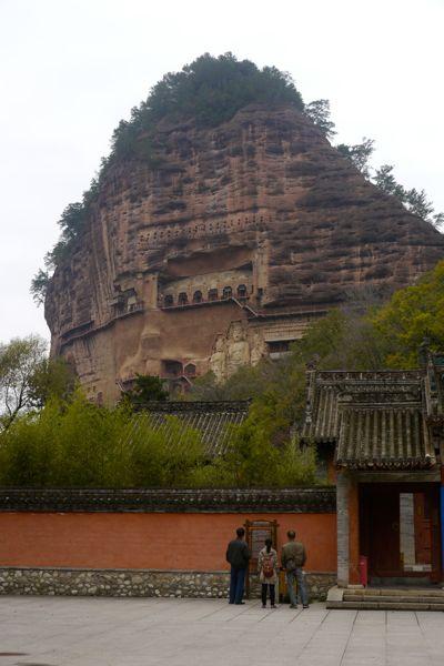 Majishan; een grottencomplex met honderden grotten met Boeddhabeelden