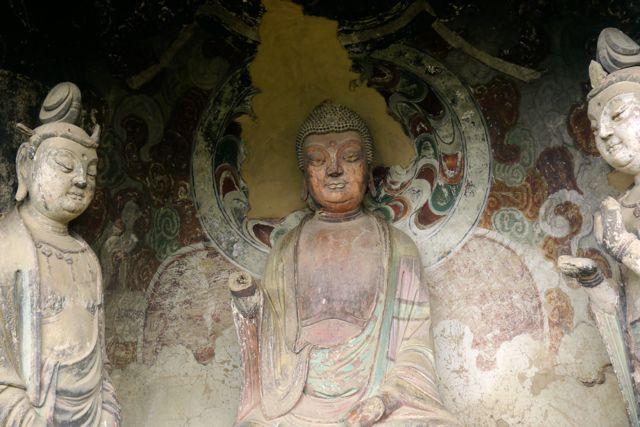 Detail uit een van de grotten