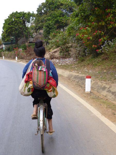 In Vietnam wordt er nog gefietst.