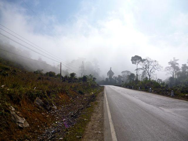 De eerste bergen in Noord Vietnam