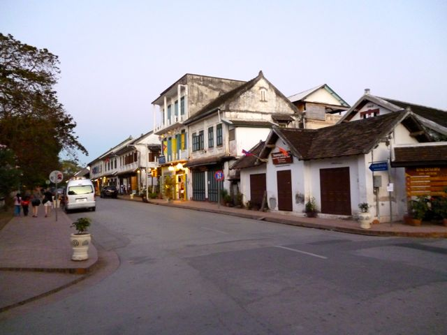 Straatbeeld Luang Prabang