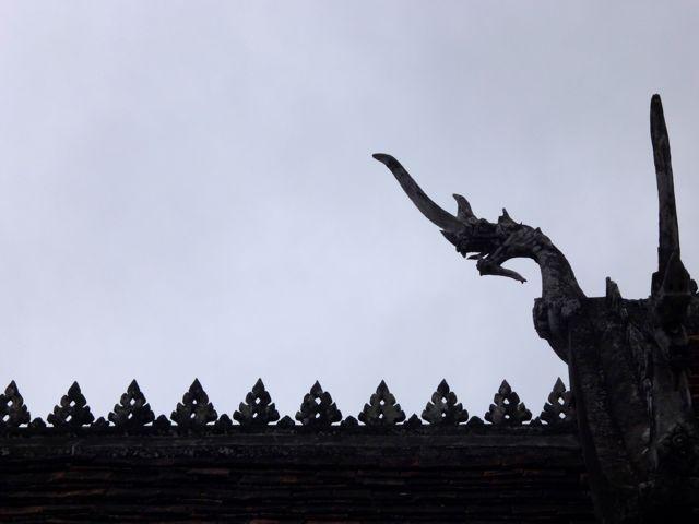 Een detail van een van de tempels in Luang Prabang