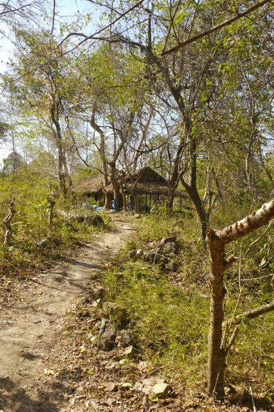 Een heel simpel dorpje op een van de 4000 eilanden in de Mekong in zuid Laos.