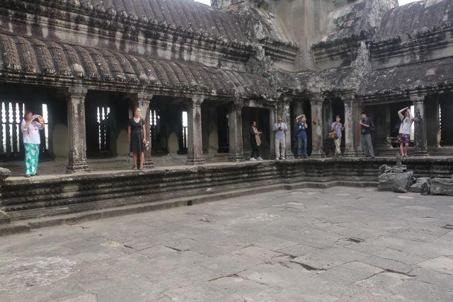 Bovenop het tempelcomplex