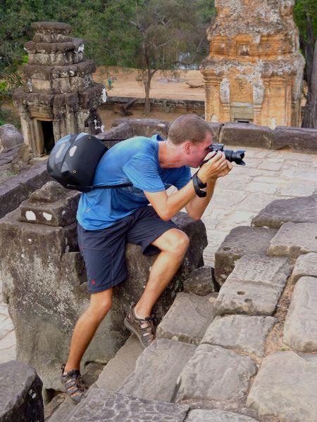 Maarten aan het fotograferen