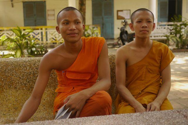 We hebben met veel plezier even met deze monniken zitten praten.