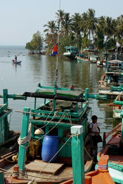Vissershaventje aan de kust.