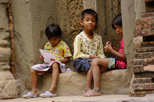 Wij waren hier voor zeven uur 's ochtends. De kinderen waren er toen al. Ze maken vast lange werkdagen.