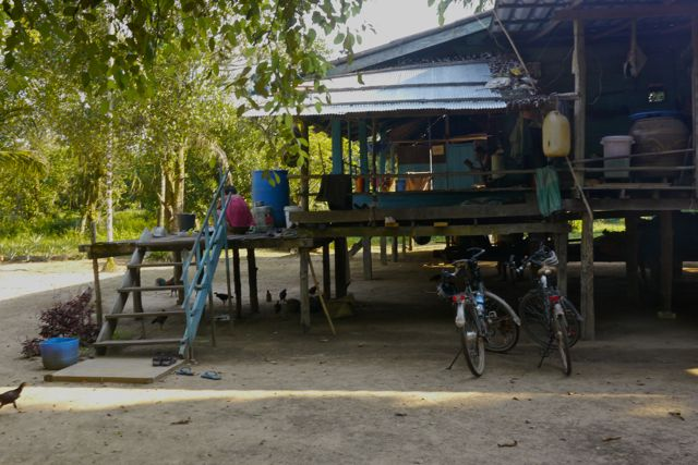 De homestay in het dorpje.