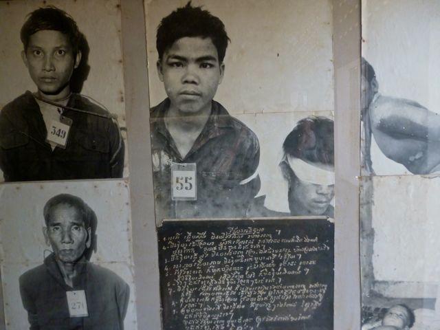 Slachtoffers van Pol Pot's regime.